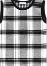 Siyah Beyaz Ekoseli Çocuk Triko Elbise
