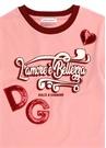 Pembe Bisiklet Yaka Patchli Kız Çocuk T-shirt
