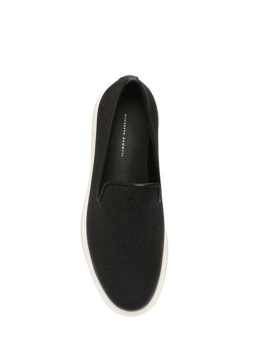 Dustin Siyah Dokulu Erkek Deri Loafer