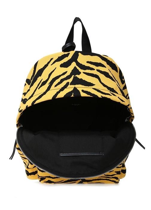 Sarı Siyah Kaplan Desenli Erkek Sırt Çantası