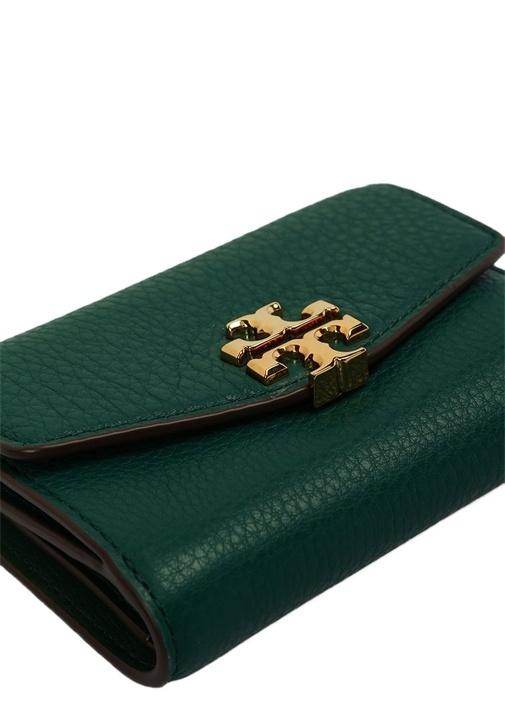 Yeşili Gold Logolu Kadın Deri Cüzdan