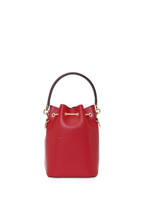 Mon Tresor Kırmızı Logolu Büzgülü KadınDeri Çanta