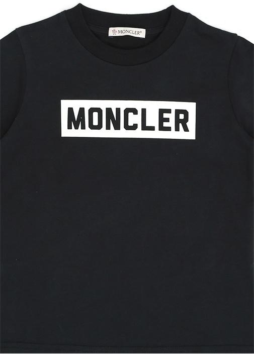 Antrasit Logo Baskılı Erkek Çocuk BasicT-shirt