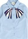 Mavi Fiyonk Patchli Kız Çocuk Gömlek