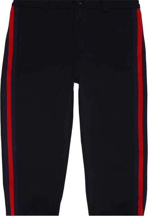 Lacivert Şeritli Erkek Çocuk Jogger Pantolon