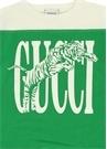 Yeşil Krem Logolu Erkek Çocuk T-shirt