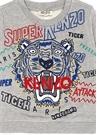 Tiger Gri Nakışlı Erkek Çocuk Sweatshirt