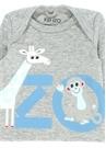 Gri Baskılı Erkek Bebek Organik PamukluSweatshirt