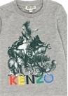 Giloun Gri Karışık Baskılı Erkek Çocuk T-shirt