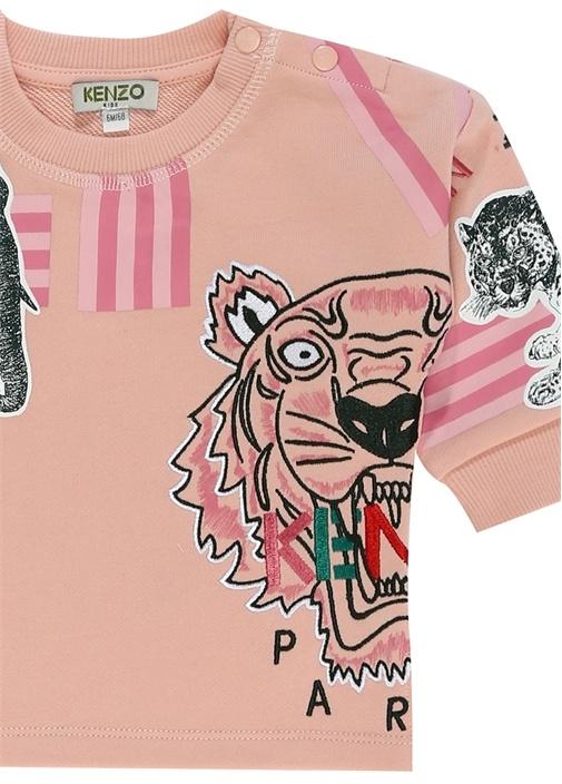 Pembe Baskılı Kız Bebek Sweatshirt