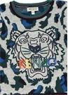 Gri Yeşil Leopar Desenli Erkek Çocuk Sweatshirt