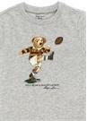 Gri Baskılı Erkek Bebek T-shirt