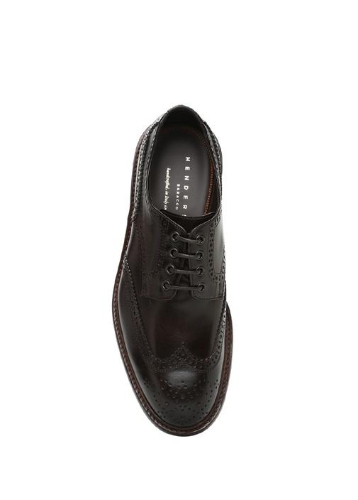 Kahverengi Delik Detaylı Erkek Deri Ayakkabı