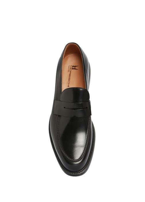 Vitello Siyah Bantlı Erkek Deri Loafer