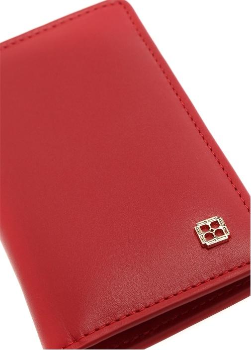 Kırmızı Logolu Kadın Deri Cüzdan
