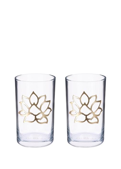 """Lotus"" Cam Kahve Bardağı / 2'li Set"