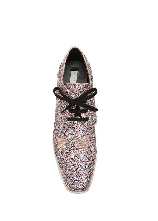 Pembe Simli Yıldızlı Kadın Sneaker