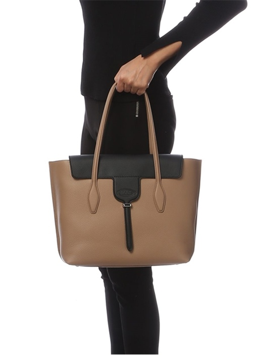 Joy Medium Bej Kadın Deri Çanta