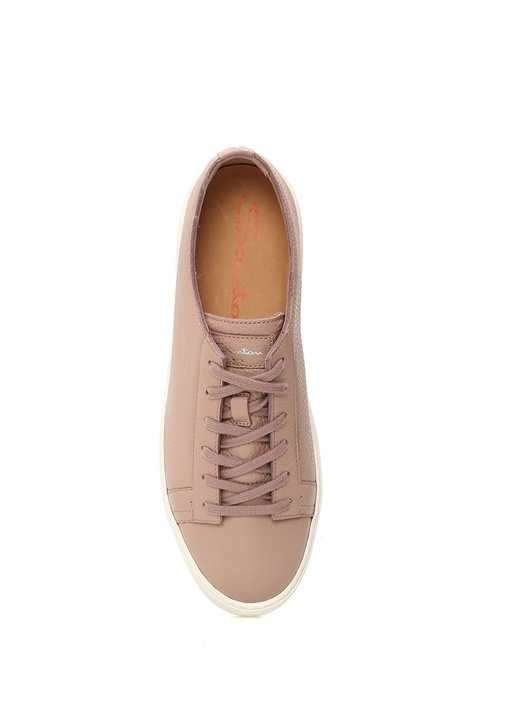 Pembe Kadın Deri Sneaker