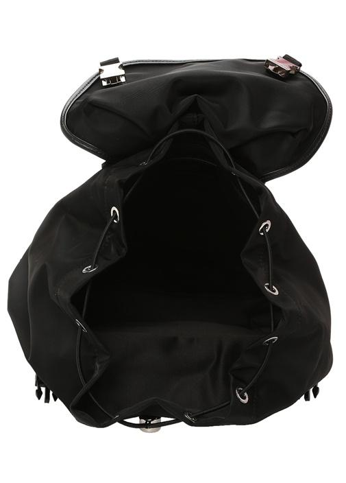 Siyah Logo Baskılı Erkek Sırt Çantası