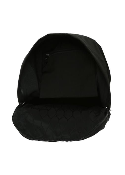 Large Siyah Kaplan Nakışlı Erkek Sırt Çantası