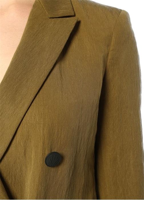 Nyx Cargo Haki Kruvaze Blazer Ceket