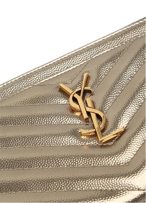 Monogram Silver Gold Logolu Kadın Deri Cüzdan
