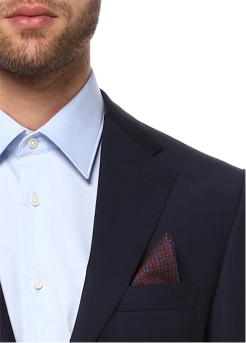 Lacivert Yün Standart Fit 7 Drop Blazer