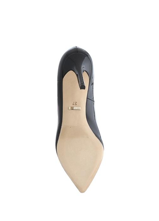 Siyah Topuklu Rugan Ayakkabı