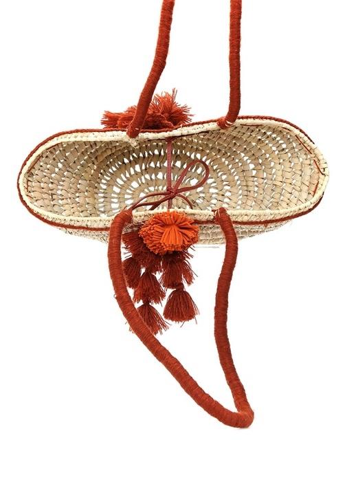 Beach Basket Small Püskül Ponponlu Sepet Çanta