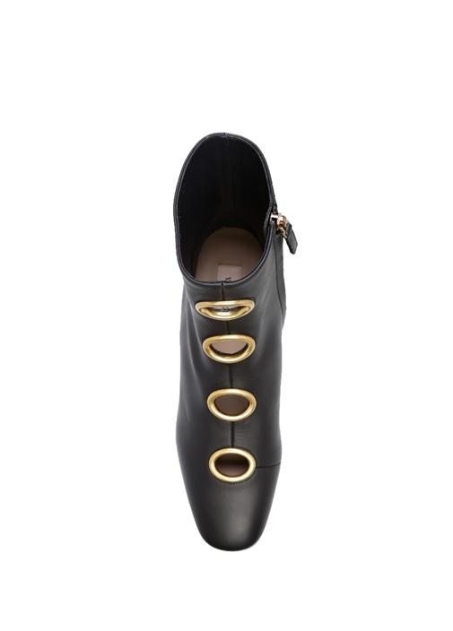 Valentino Garavani Siyah Kadın Deri Bot