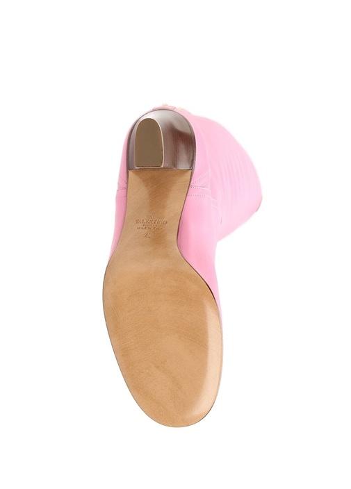 Valentino Garavani Pembe Kadın Deri Çizme