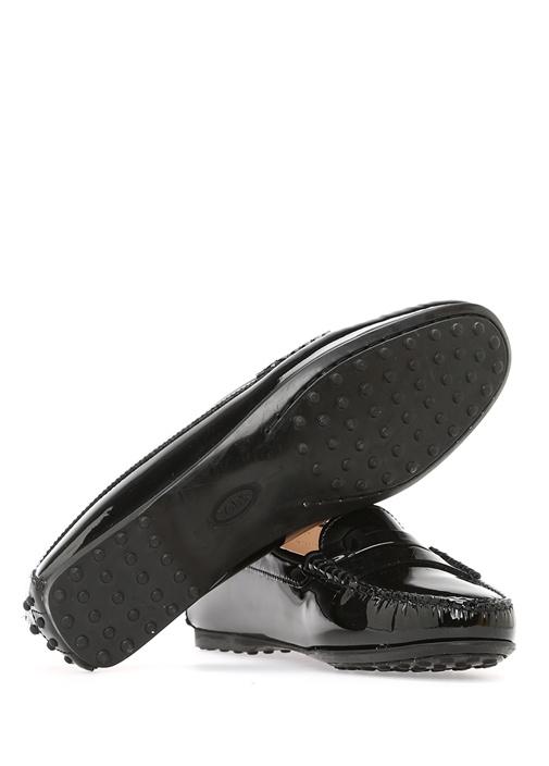 Siyah Bant Detaylı Kadın Rugan Loafer