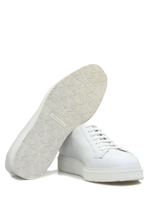 Beyaz Deri Erkek Sneaker
