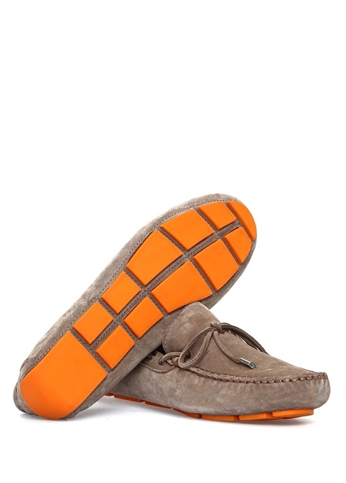 Vizon Bağcıklı Fiyonk Detaylı Erkek Süet Loafer