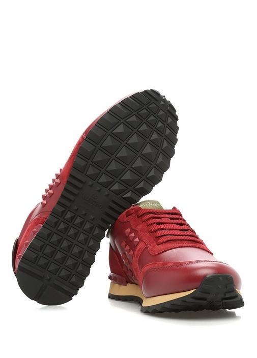 Valentino Garavani Kirmizi Rockstud Erkek Sneaker