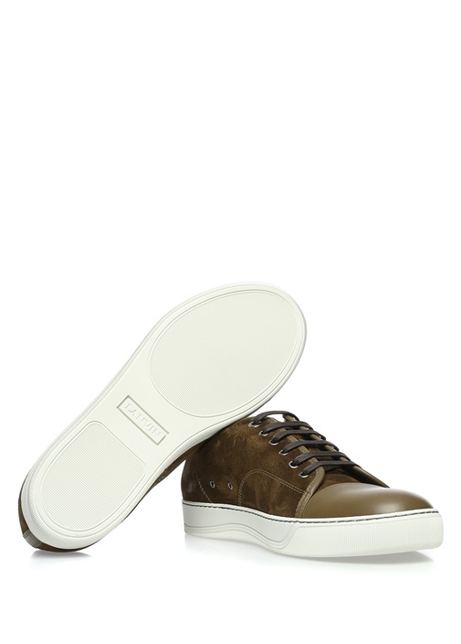Haki Deri Erkek Sneaker