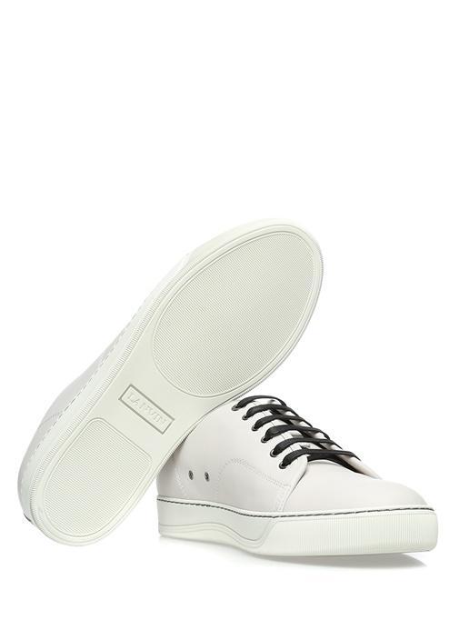 Açık Gri Deri Erkek Sneaker