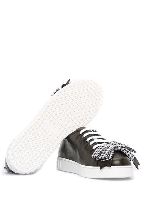 Siyah Deri Kadın Sneaker