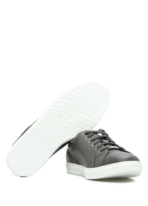 Cash Gri Deri Erkek Sneaker