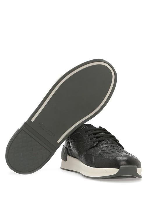 Calf Bv Grand Deri Siyah Erkek Sneaker