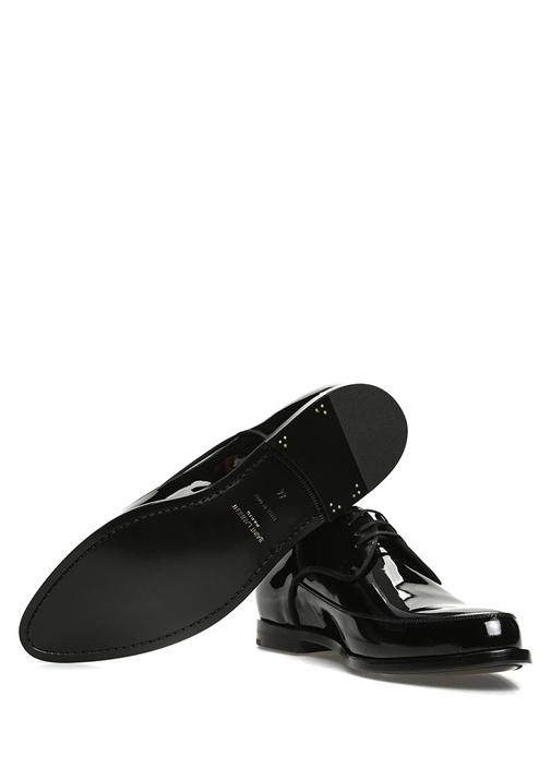 Charles Siyah Bağcıklı Rugan Smokin Ayakkabısı