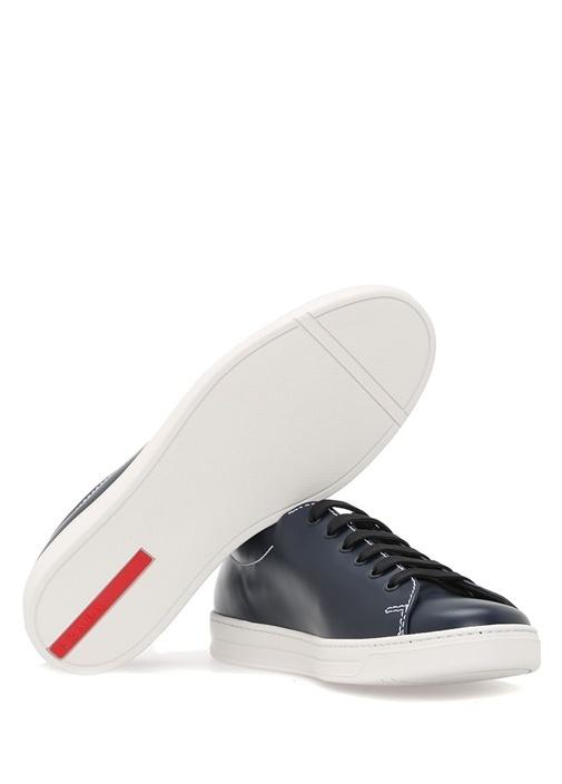 Lacivert Deri Erkek Sneaker