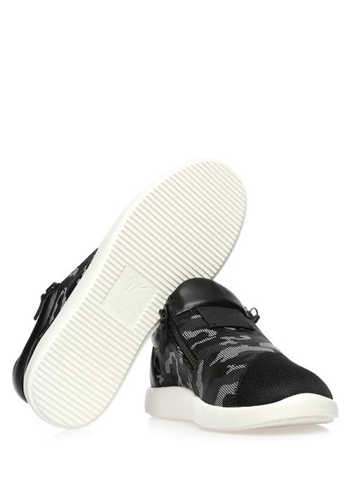 Runner Siyah Deri Erkek Sneaker