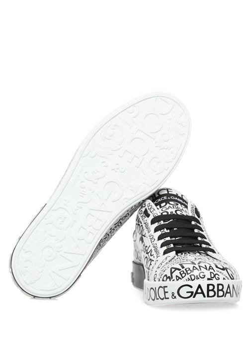 Portofino Aplikeli Beyaz Erkek Sneaker