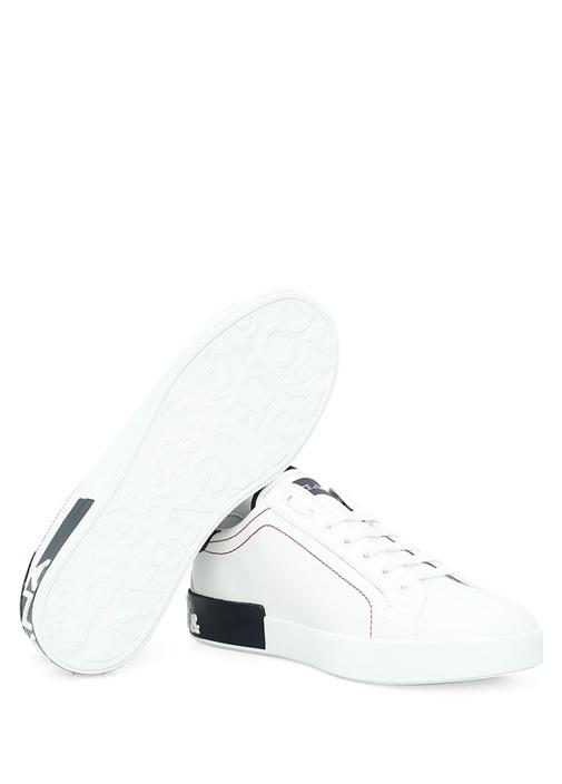 Portofino Beyaz Siyah Erkek Deri Sneaker