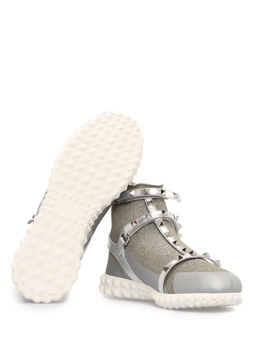 Gri Çorap Formlu Kadın Sneaker