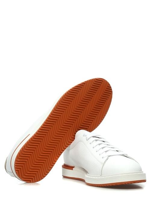 Icarus Deri Beyaz Erkek Sneaker