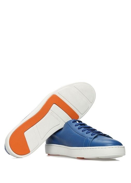 Mavi Deri Erkek Sneaker