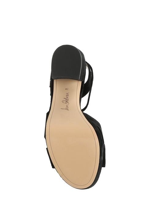 Siyah Mara Topuklu Kadın Sandalet